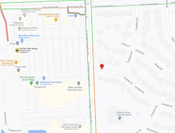 Gas leak Lonsdale Road Elk Grove (Map Data ©2021 Google)