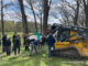 American Painted Horse lifted with John Deere Compact Track Loader during rescue in Barrington Hills on Wednesday, April 21, 2021