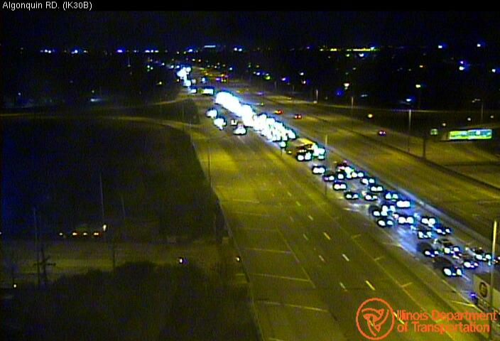 Route 53 bridge over I-90 traffic backup (SOURCE: IDOT)
