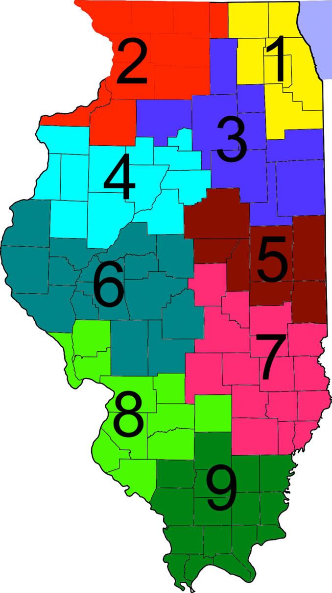 IDOT District Map