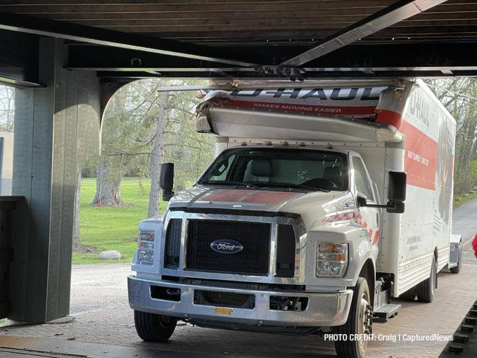 U-Haul truck crash into Robert Parker Coffin Road bridge in Long Grove on Friday, April 9, 2021