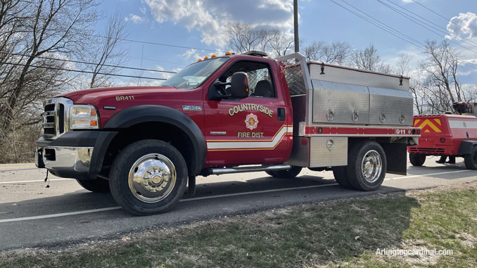 Countryside FPD assigned to the Long Grove/Kildeer brush fire on Tuesday, April 6, 2021