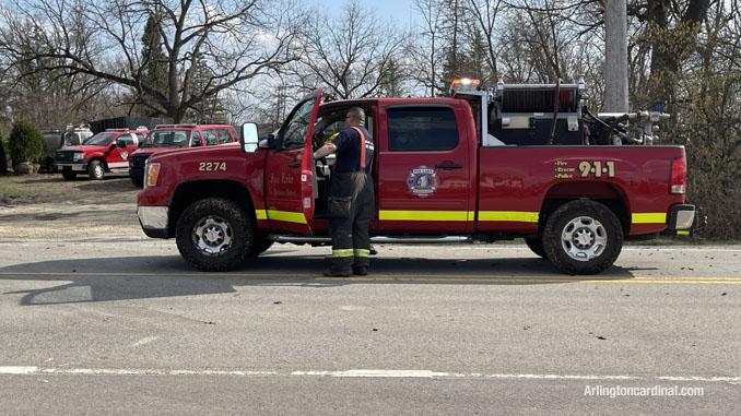 Fox Lake FPD brush truck at the Long Grove/Kildeer brush fire on Tuesday, April 6, 2021