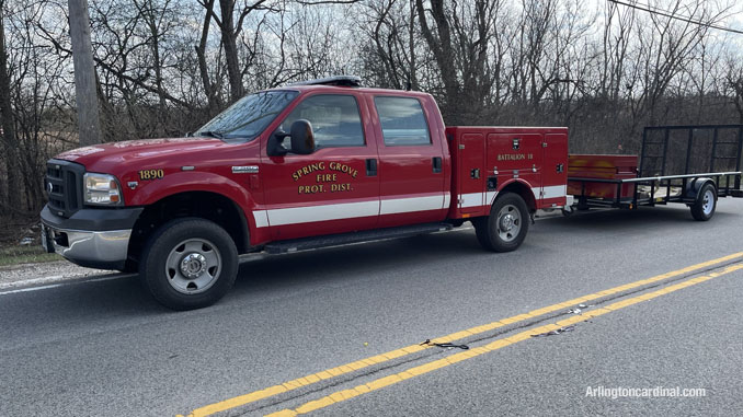 Spring Grove Fire Protection District assigned to the brush fire Long Grove/Kildeer on Tuesday, April 6, 2021