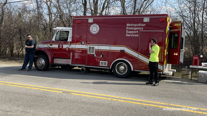 Metropolitan Emergency Support Services (MESS) assigned to the Long Grove/Kildeer brush fire on Tuesday, April 6, 2021