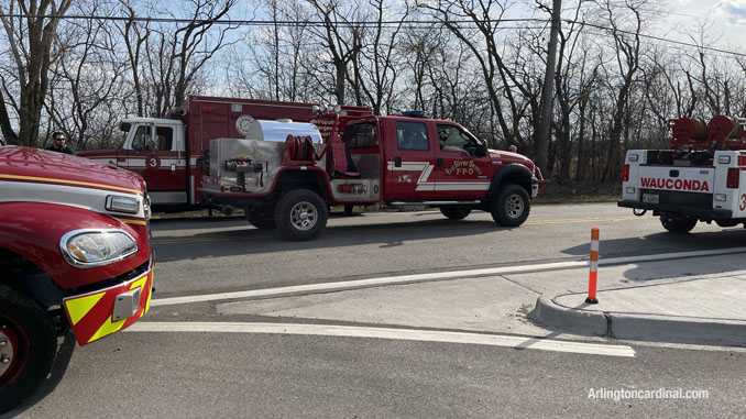 Fox River Grove FPD assigned to the Long Grove/Kildeer brush fire on Tuesday, April 6, 2021