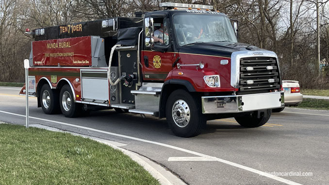 Nunda Township Tender 71 assigned Change of Quarters at Long Grove fire station on Tuesday, April 6, 2021