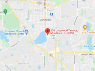 Map of Carys Castillo shooting victim location on Longwood Terrace in Mundelein (Map data ©2021 Google)