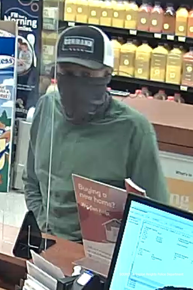 Male/white bank robber TCF Bank Wednesday, April 7, 2021