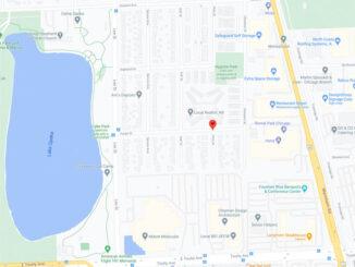Online Sale Armed Robbery on Pine Street near Fargo Street in Des Plaines (Map Date ©2021 Google)
