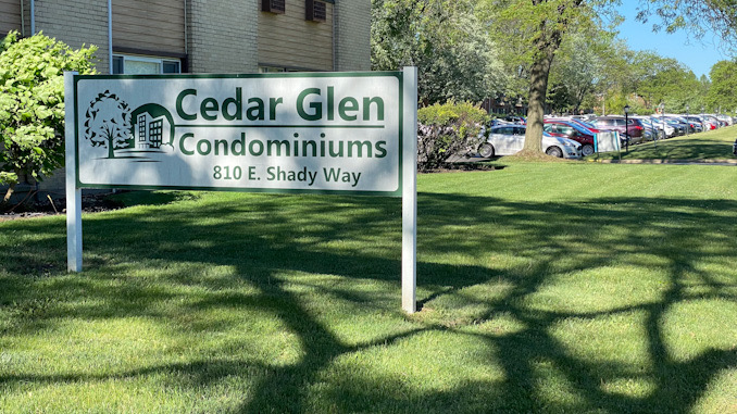 Falcon Drive blocked east of Goebbert Road just north of the Cedar Glen Condominiums for stabbing investigation on Saturday, May 29, 2021