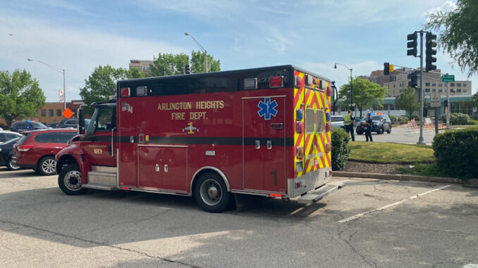 Crash with Injuries Evergreen Avenue and Northwest Highway, Arlington Heights