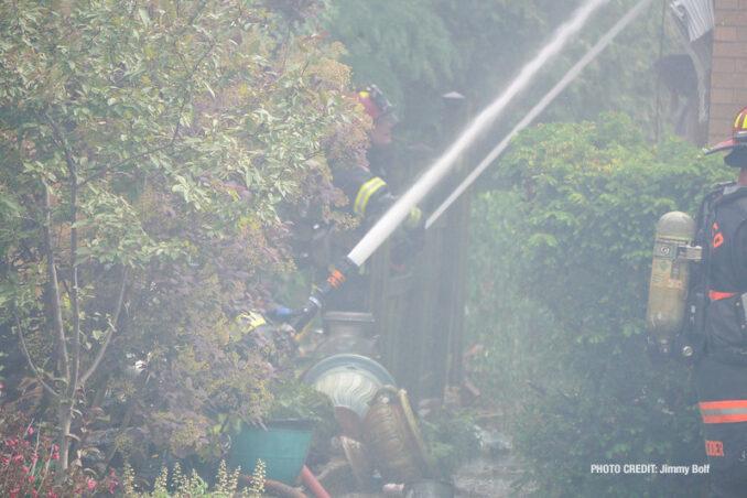 House fire on Milton Avenue, Park Ridge (PHOTO CREDIT: Jimmy Bolf).