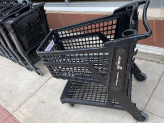 The new full-size polymer plastic shopping cart at Mariano's in Arlington Heights