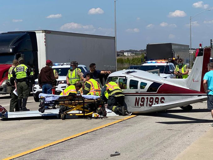Beechcraft B24R emergency landing Thursday, May 13, 2021