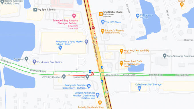 Crash Map Deerfield Parkway and Milwaukee Avenue in Lincolnshire