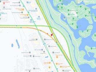 Crash Map Edens Spur near US-41 on Sunday night May 9, 2021