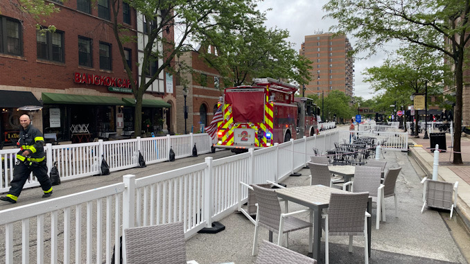 Engine 2 with access in Arlington Alfresco on Friday, May 28, 2021