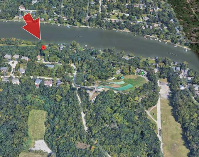 Capture location on Ski Hill Road near the Norge Ski Club in Fox River Grove
