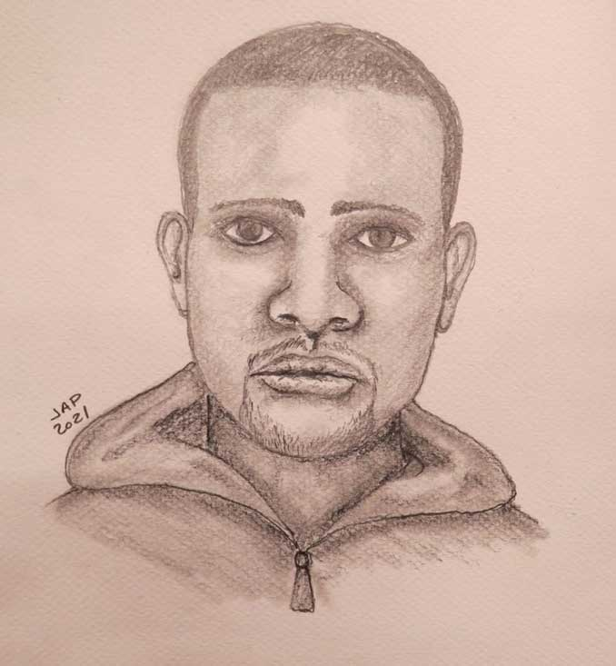 Police Facial Composit for suspect in inappropriate touching case at Valley Lane and Pinetree Drive, Arlington Heights (SOURCE: Arlington Heights Police Department).