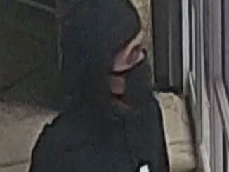 Suspect wearing black during commercial burglary of puppy store in Arlington Heights (SOURCE: Arlington Heights Police Department)