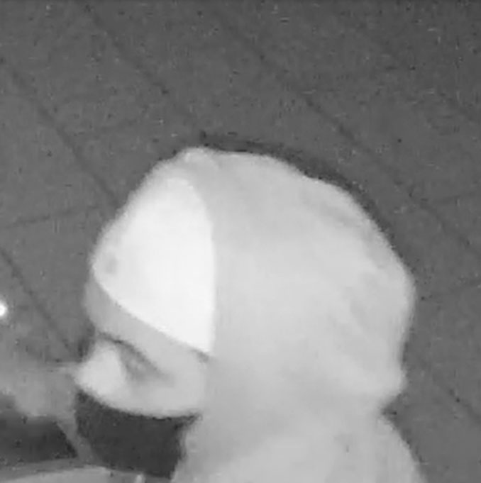 Suspect wearing gray hoodie during commercial burglary of puppy store in Arlington Heights (SOURCE: Arlington Heights Police Department)