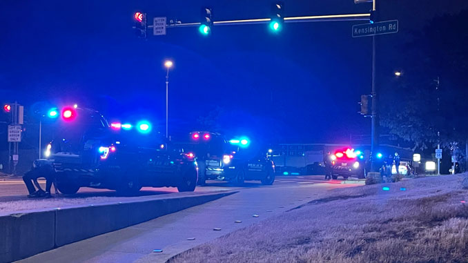 Traffic stop at US 14 EAST and Kensington Road in Arlington Heights, about 9:30 p.m. Sunday, May 23, 2021
