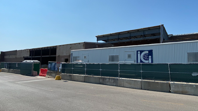 Construction site for future Amazon Fresh site at 325 East Palatine Road in Arlington Heights