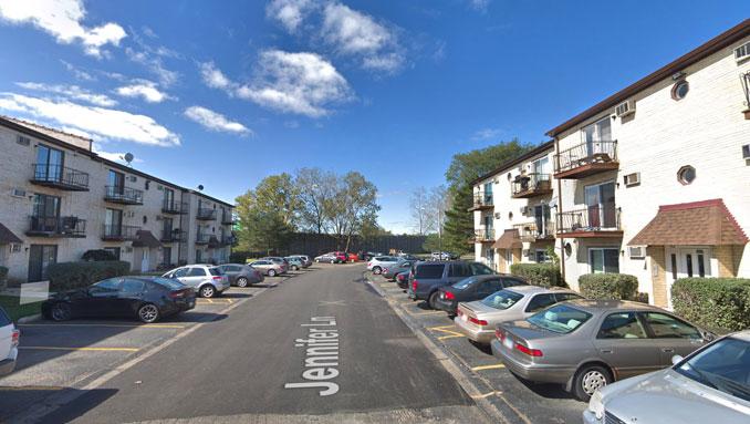 4000 block Jennifer Lane in unincorporated Arlington Heights, Cook County (Google maps Street View image captured October 2018 ©2021 Google)