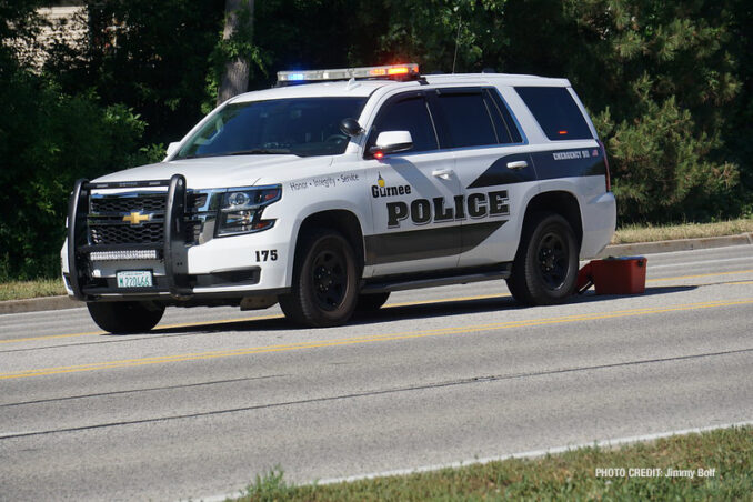 Gurnee Police and MCAT investigation on Washington Street west of Cemetery Road in Gurnee (PHOTO CREDIT: Jimmy Bolf)