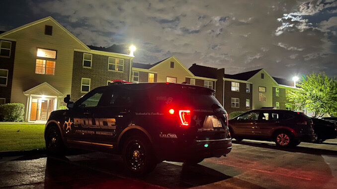 Police investigating at a home invasion on East Algonquin Road in Arlington Heights