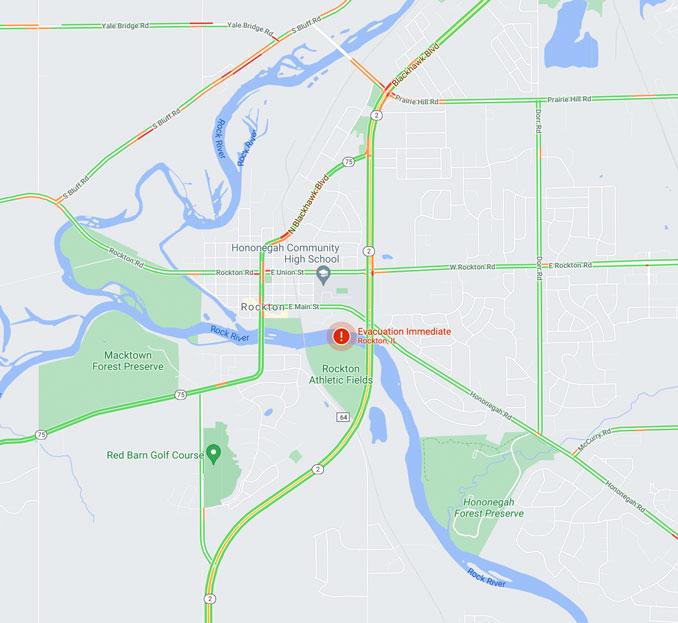 Google Evacuation Notice Rockton ChemTool Chemical Plant Fire