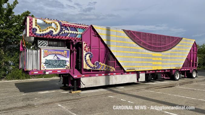 Setup for Recreation Park  Carnival Jamboree by Frontier Days began Monday June 28, 2021