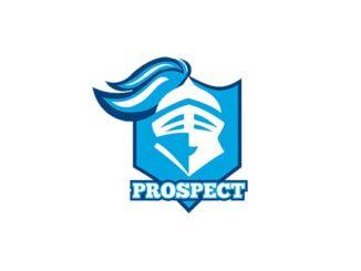 Prospect High School logo (Fair use to compare hypocrisy of criticizing Police Thin Blue Line)
