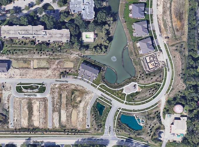 Provenance Way drowning scene satellite view (Imagery ©2021 Google, Imagery)