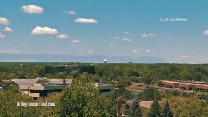 Smoke plume from Chemtool extra alarm fire in Rockton, Illinois north of Rockford