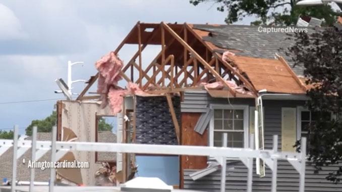 Tornado Damage Second Floor
