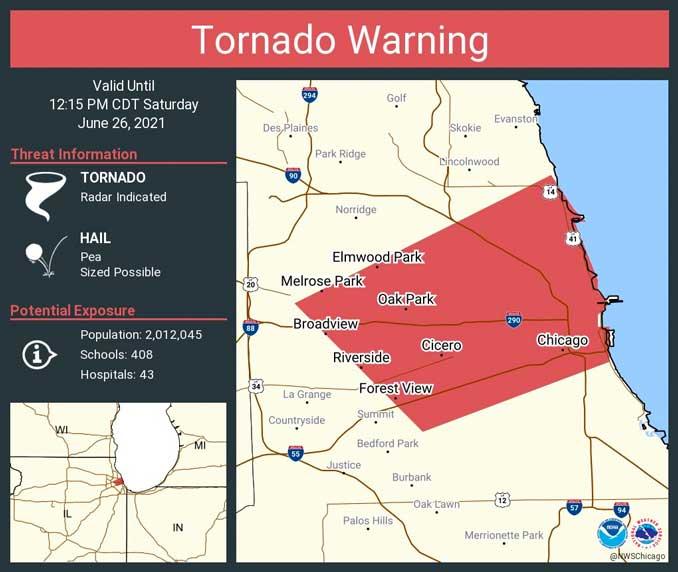 Tornado Warning June 26, 2021 11:49 AM CDT