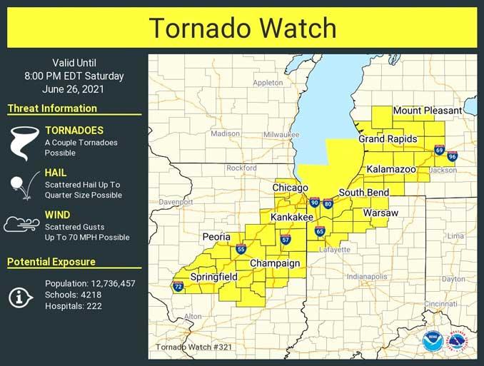 Tornado Watch June 26, 2021