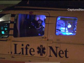 Airlift for fireworks injury in Waukegan (Craig/CapturedNews).