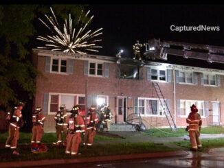 Apartment fire on Williamsburg Drive in Waukegan, Saturday, July 3, 2021 (PHOTO CREDIT: Craig/CapturedNews)