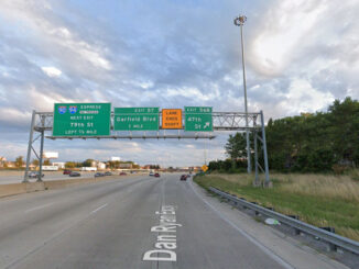 Outbound Dan Ryan Expressway and 47th Street Chicago (Image capture Augusts 2019 ©2021)
