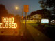 Road Closed displayed at sign at Thomas Street and Belmont Avenue in Arlington Heights
