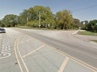 Route 120 and Thompson Road in Greenwood Township northeast of Woodstock, Illinois (Google Street View image captured September 2012 ©2021 Google)