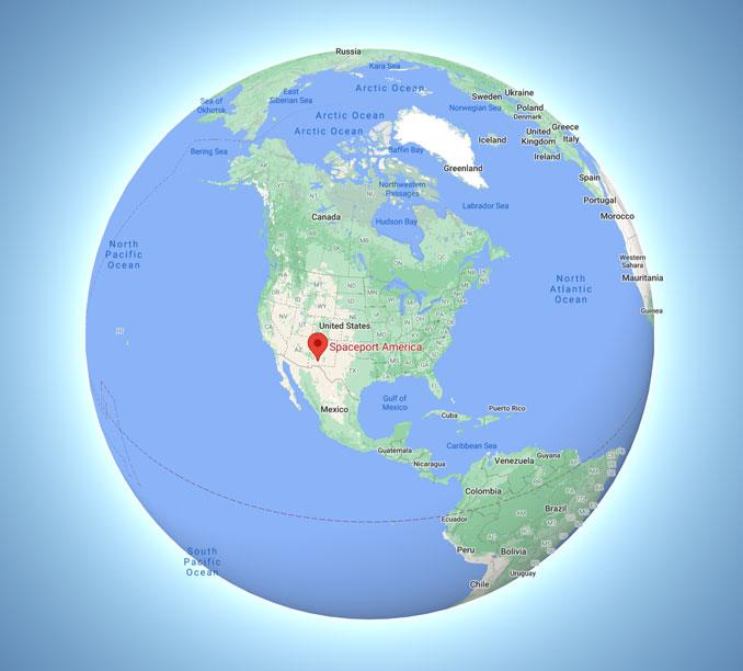 Spaceport America global view (Map data ©2021 Google, INEGI)
