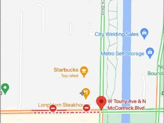 Touhy and McCormick fatal hit-and-run (Map ©2021 Google)