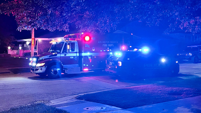 Paramedics on scene at Palatine Road and Eastwood Drive in Arlington Heights