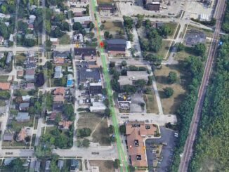 1700 block Sheridan Road in North Chicago, Aerial View (Imagery ©2021 Google, Imagery ©2021 Maxar Technologies, U.S. Geological Survey, Map data ©2021)