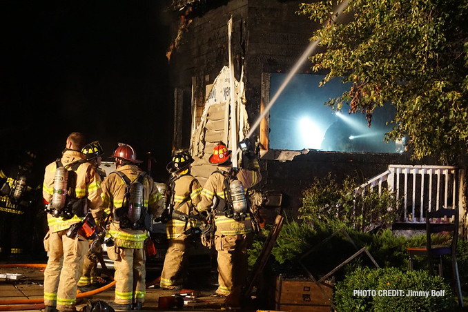 Libertyville fatal fire scene Friday morning, Augusts 13, 2021 (PHOTO CREDIT: Jimmy Bolf)