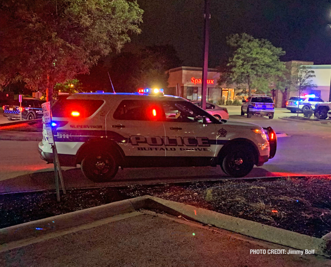 Buffalo Grove police at the scene of a fight at Astoria Banquets